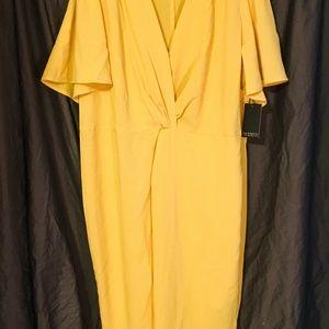 Eloquii wrap dress yellow size 20 NWT